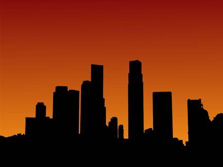 singapore skyline: Singapore skyline at sunset with beautiful sky Stock Photo