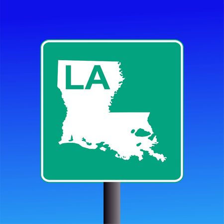 Actual blank Louisiana highway sign illustration on blue Stock fotó