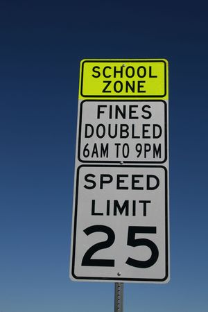 doubled: school zone speed limit fines doubled