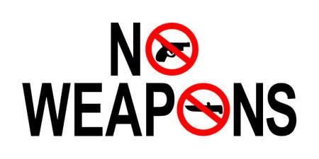 no weapons guns or knives sign illustration illustration