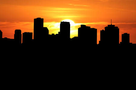 New Orleans skyline at sunset with beautiful sky Stock Photo - 2251746
