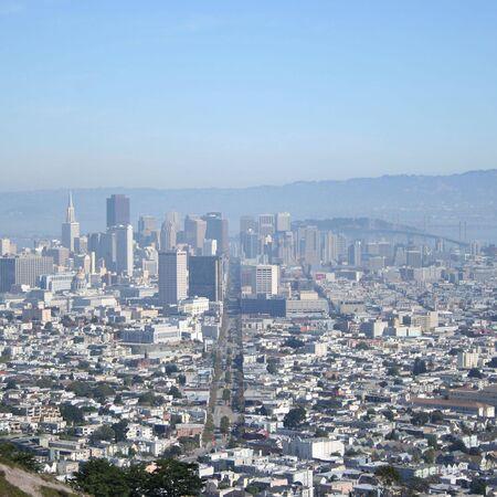 market street and downtown San Francisco California  photo