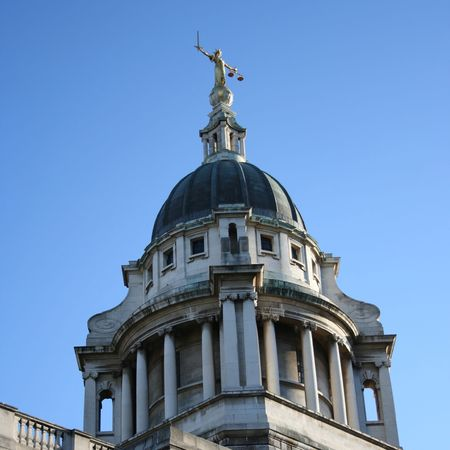 Old Baily criminal court building, London England photo