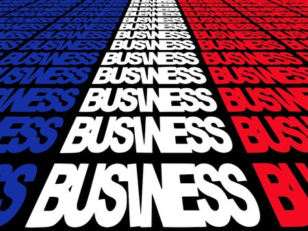 converging: converging business text with French flag illustration Stock Photo