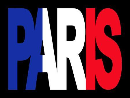 París superposición de texto con pabellón francés ilustración Foto de archivo - 2388036