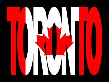 Toronto superposición de texto con bandera canadiense en la ilustración Foto de archivo - 2388044