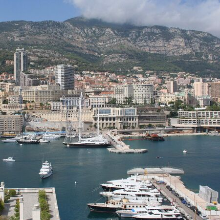 Monte Carlo yachts and condominiums on the Mediterranean photo