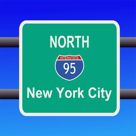 95: Interstate 95 a New York City segno illustrazione Archivio Fotografico