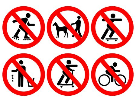 regulations: Park rules no cycling, skating, littering, skate boards
