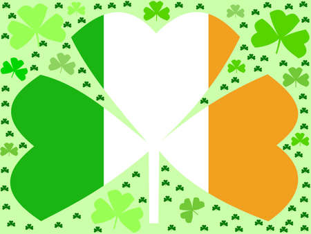 St Patricks day shamrocks with Irish flag Stock Photo - 2503956