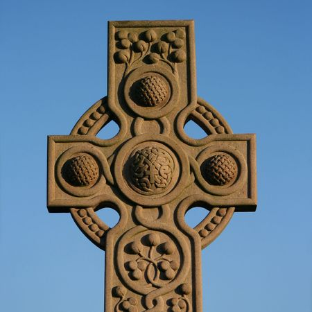 close up of celtic cross in Necropolis Glasgow Stock Photo - 2547113
