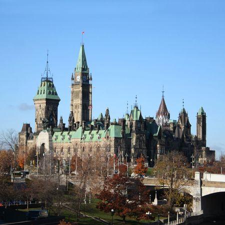 rideau canal: Canadian Parliament and Rideau canal Ottawa Canada
