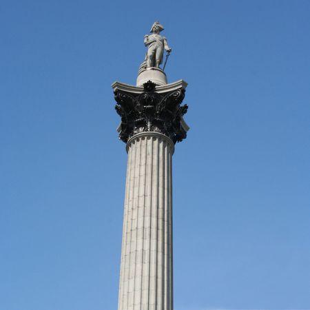Nelsons column Trafalgar Square London England photo