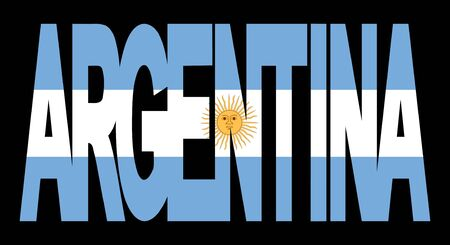 realm: overlapping Argentina text with their flag illustration