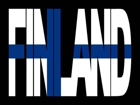 Finlandia superposición de texto con la ilustración de su pabellón Foto de archivo - 2603031