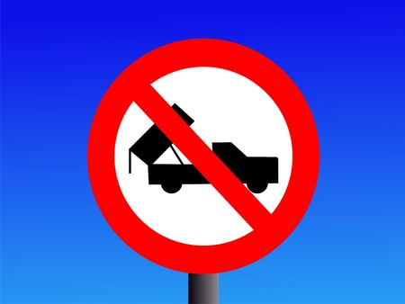 dumping: No dumping sign with truck symbol
