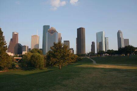 skyscrapers of Houston skyline Texas