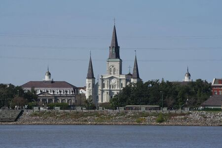 St Louis Cathedral Jackson Square New Orleans Stock Photo - 2682171