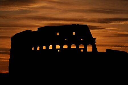 colloseum: Colosseum Rome at sunset illustration