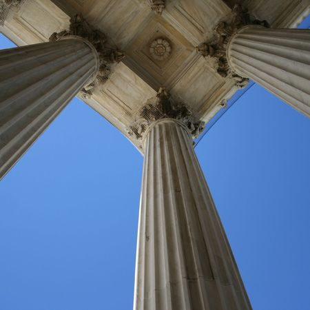 supreme court: marble columns at Supreme court Washington DC
