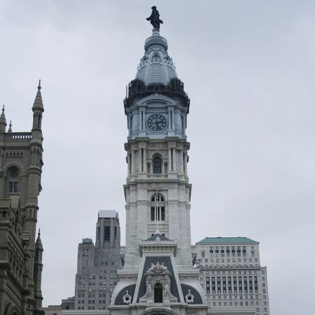 Philadelphia city hall viewed from Broad Street photo