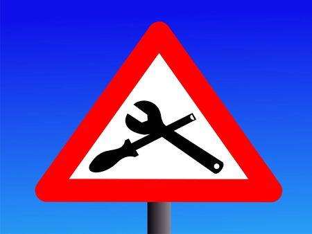 servicing: warning maintenance in progress sign Stock Photo