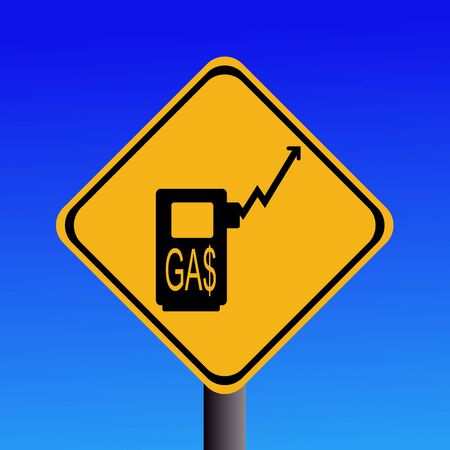 warning rising gasoline prices sign on blue  Stock Photo - 2996836