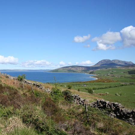 walking path leading to coast Isle of Arran Scotland photo