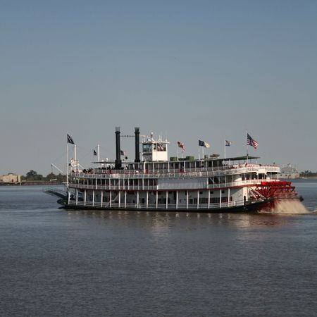 louisiana: paddle steamer on Mississippi River New Orleans