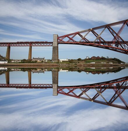 Forth Rail Bridge reflected Scotland photo