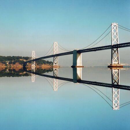 oakland: Oakland Bay Bridge reflected, San Francisco