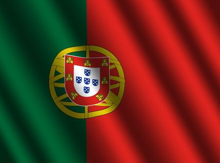 portuguese: Portuguese flag with ripples illustration