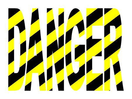 threats: Danger text with yellow and black warning stripes