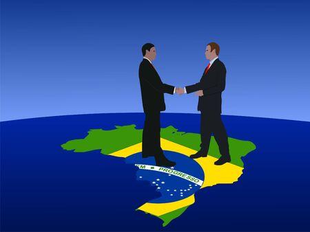 Brazilian business men meeting with handshake photo