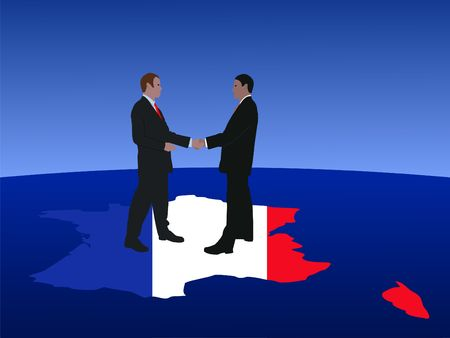French business men meeting with handshake Stock Photo - 3698928