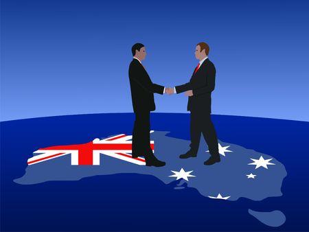 Australian business men meeting with handshake photo