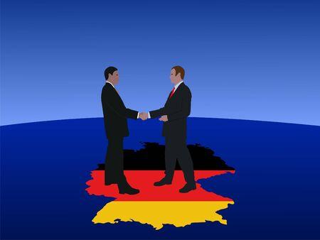 German business men meeting with handshake photo