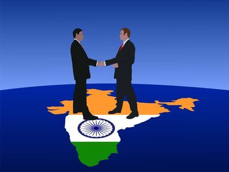 Indian business men meeting with handshake photo
