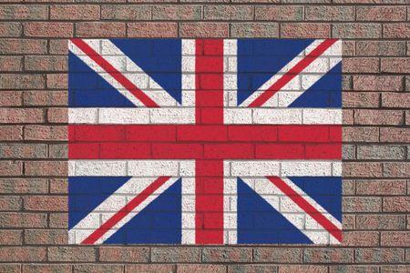 British flag painted on brick wall illustration illustration
