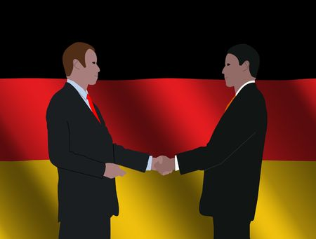 business men shaking hands with German flag illustration illustration
