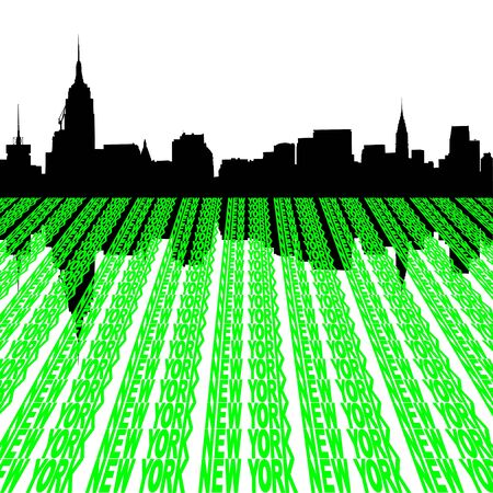 Midtown manhattan New York City skyline Stock Photo - 3965720