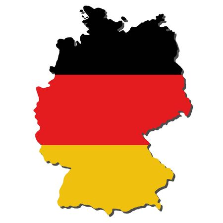 realm: map of Germany and German flag illustration Stock Photo