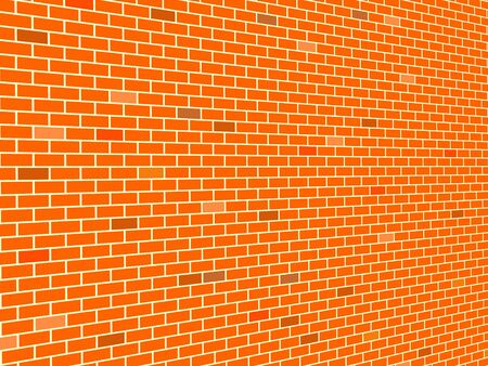 brick wall background with perspective illustration illustration
