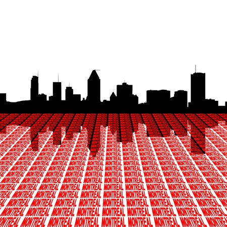 Montreal skyline with text illustration illustration