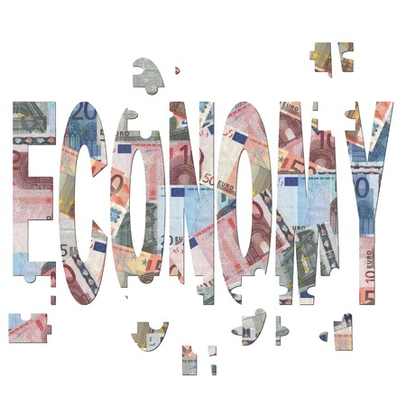 rebuilding european economy with jigsaw pieces illustration illustration