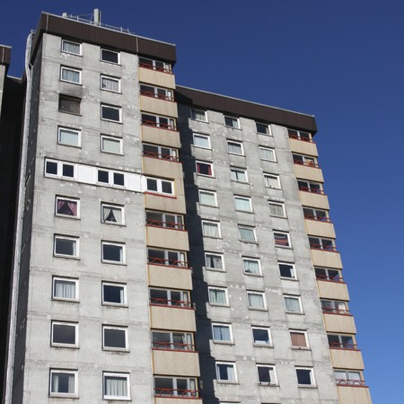 the council: British council housing blocks of flats  Stock Photo