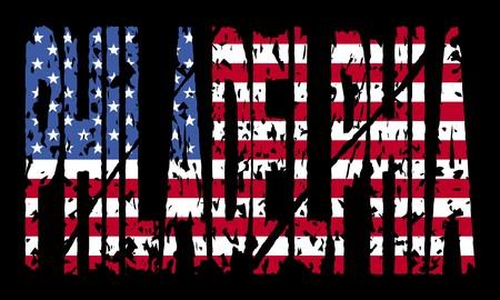 philadelphia: Grunge Philadelphia With Flag