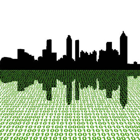 Atlanta skyline with binary perspective foreground Stock Photo - 4604898
