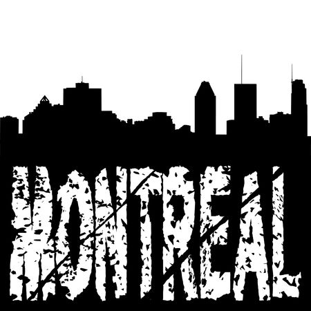 montreal: Montreal skyline with grunge text illustration