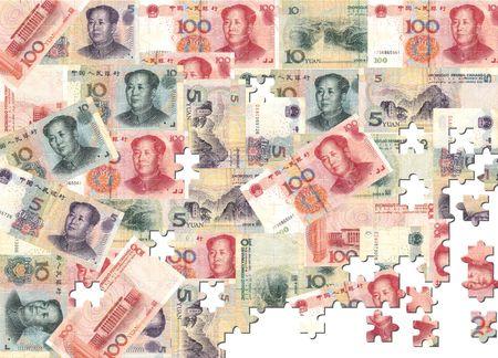 yuan: Yuan montage jigsaw background illustration